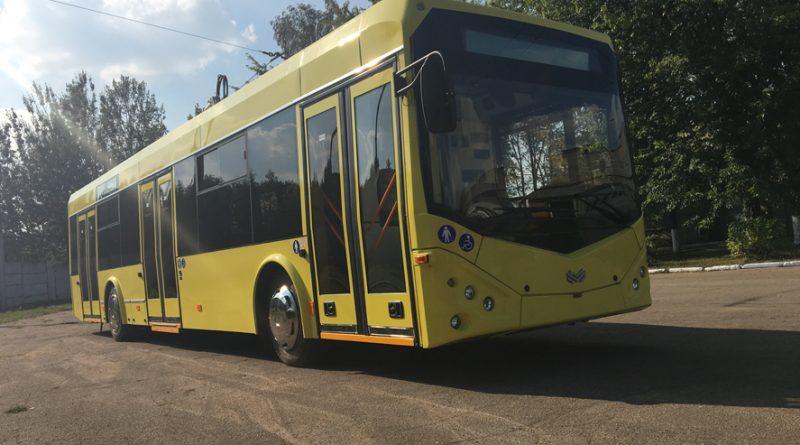 Троллейбус БКМ 321 с обновленным дизайном экстерьера, фото: Белкоммунмаш