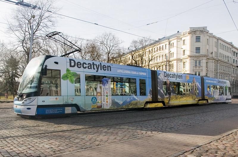 Полностью низкопольный трамвай Skoda в Риге. Фото: Александр Мироненко