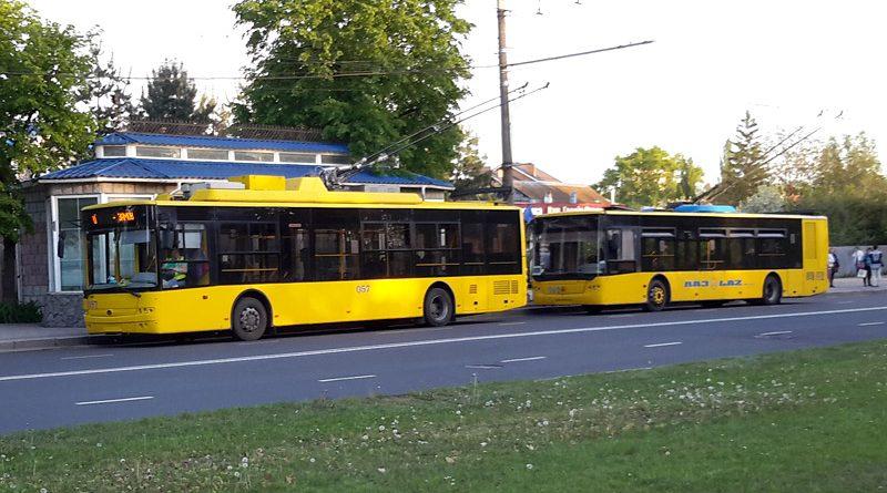 Троллейбусы в Сумах на ул. Героев Сумщины