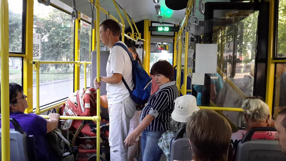Салон троллейбуса Богдан Т701.17 в Сумах