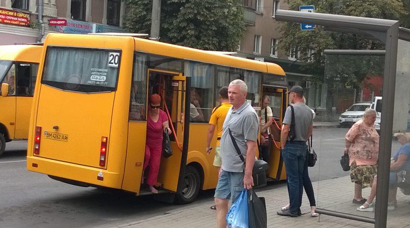 """Перегруженная """"Рута"""" на маршруте №20"""