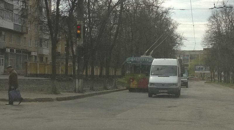 Учебный троллейбус в Сумах