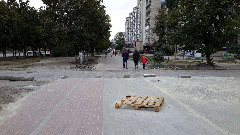 Велодорожка на улице Харьковская в Сумах