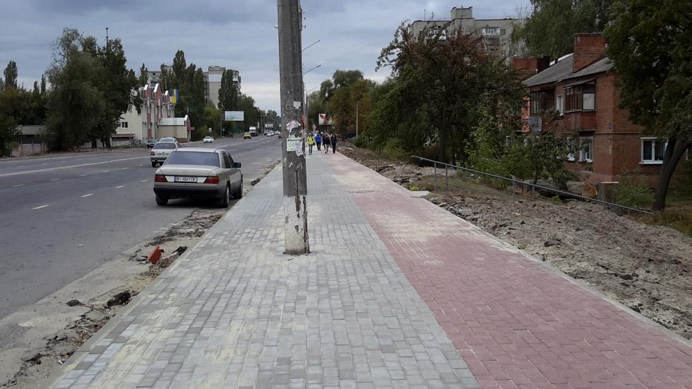 Велодорожка на улице Прокофьева в Сумах