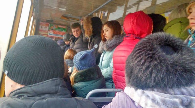 "Салон ""Руты"" на маршруте №20 в час-пик"