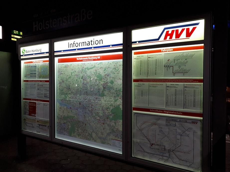 Информация HVV на станции S-Bahn