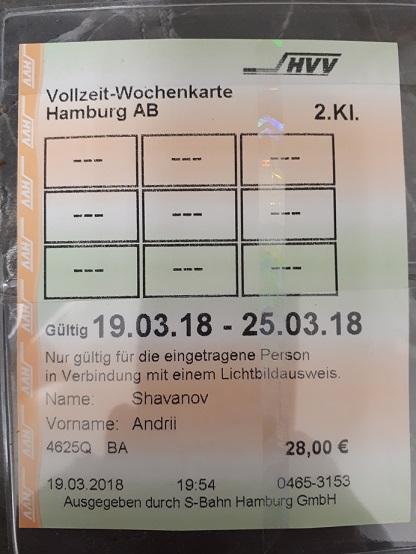 Недельный проездной за 28 евро