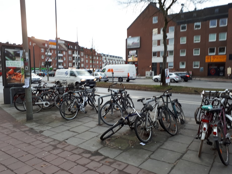 Велопарковка в Гамбурге