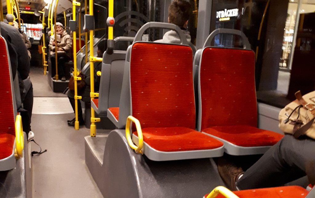 Салон автобуса в Гамбурге