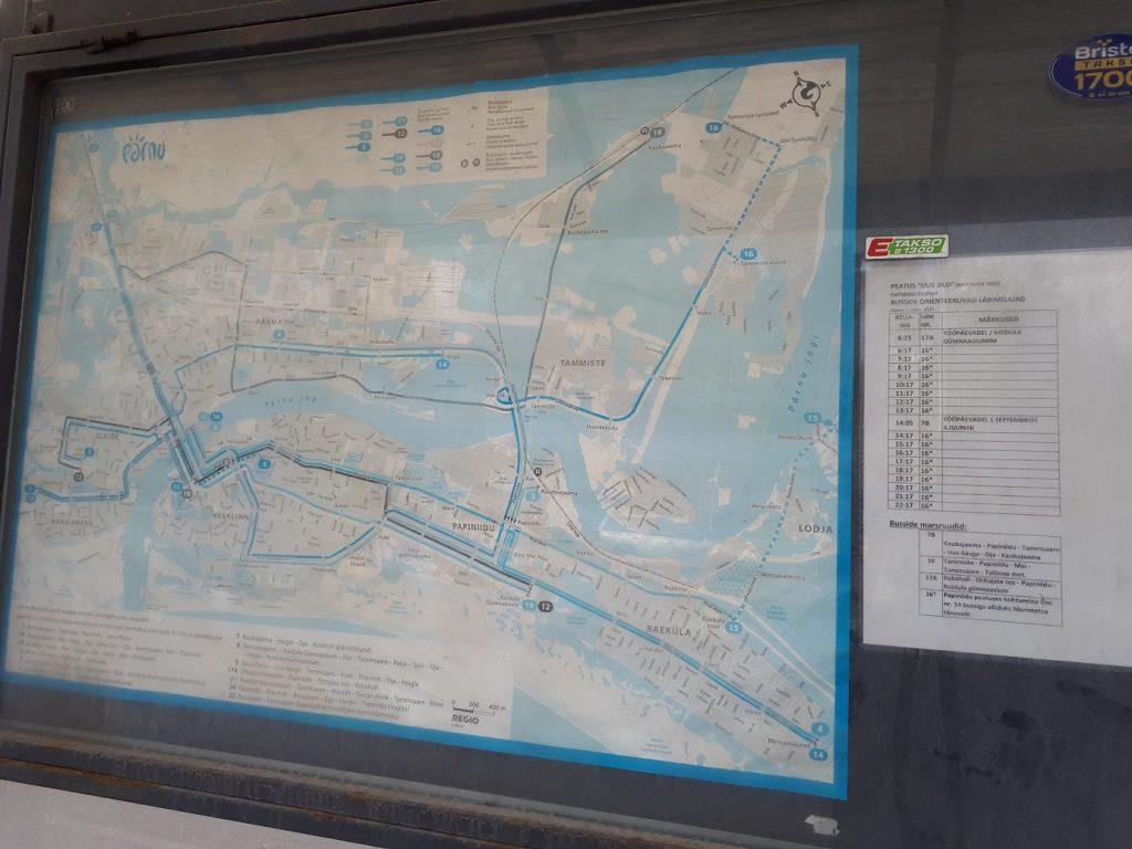 Расписание и схема городских маршрутов на остановке Uus sild