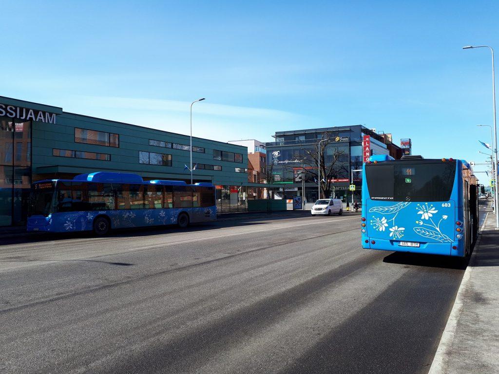 Газобусы Mercedes-Benz Conecto на пярнуских маршрутах