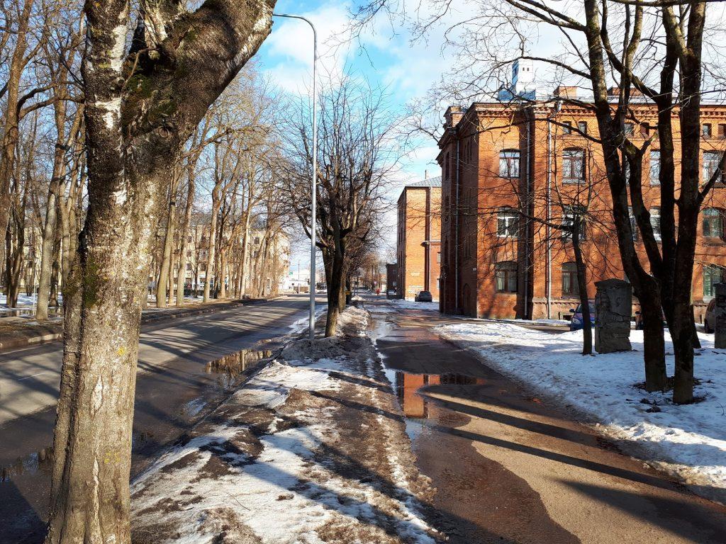 Улица в районе Кренгольмской мануфактуры