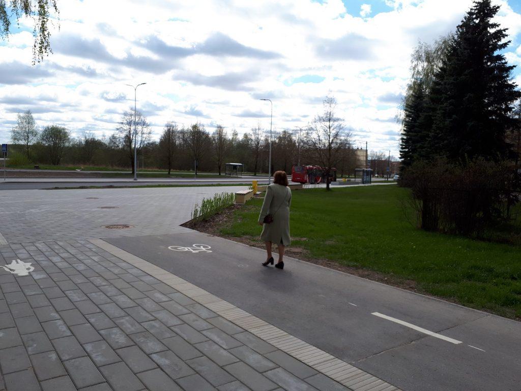 Велопешеходная дорожка в микрорайоне Аннелинн.