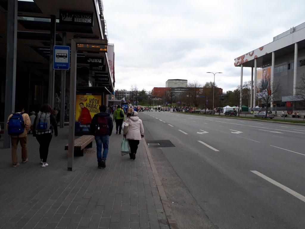 Одна из центральных остановок в Тарту