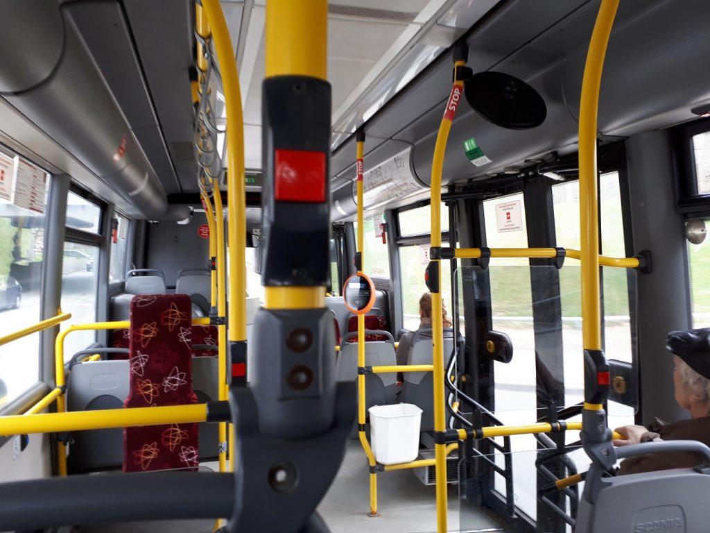 Салон автобуса Scania в Тарту