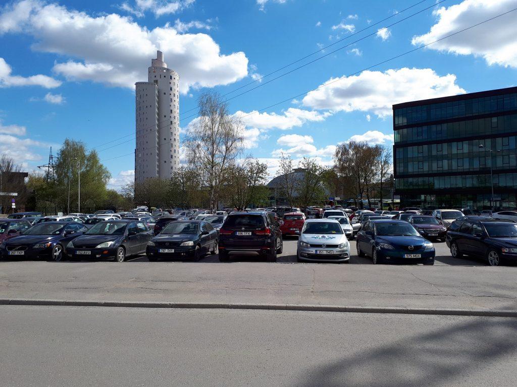 Парковка недалеко от центра